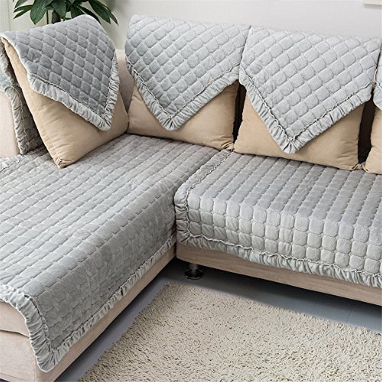 Ostepdecor Multi Size Pet Dog Couch Rectangular Winter Quilted