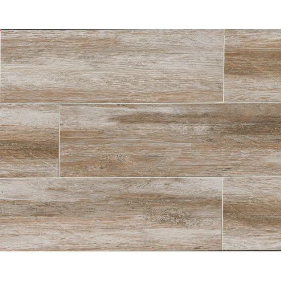 Distressed Betulla 8x24 (8x24, Gray Brown), Size 8 x 24