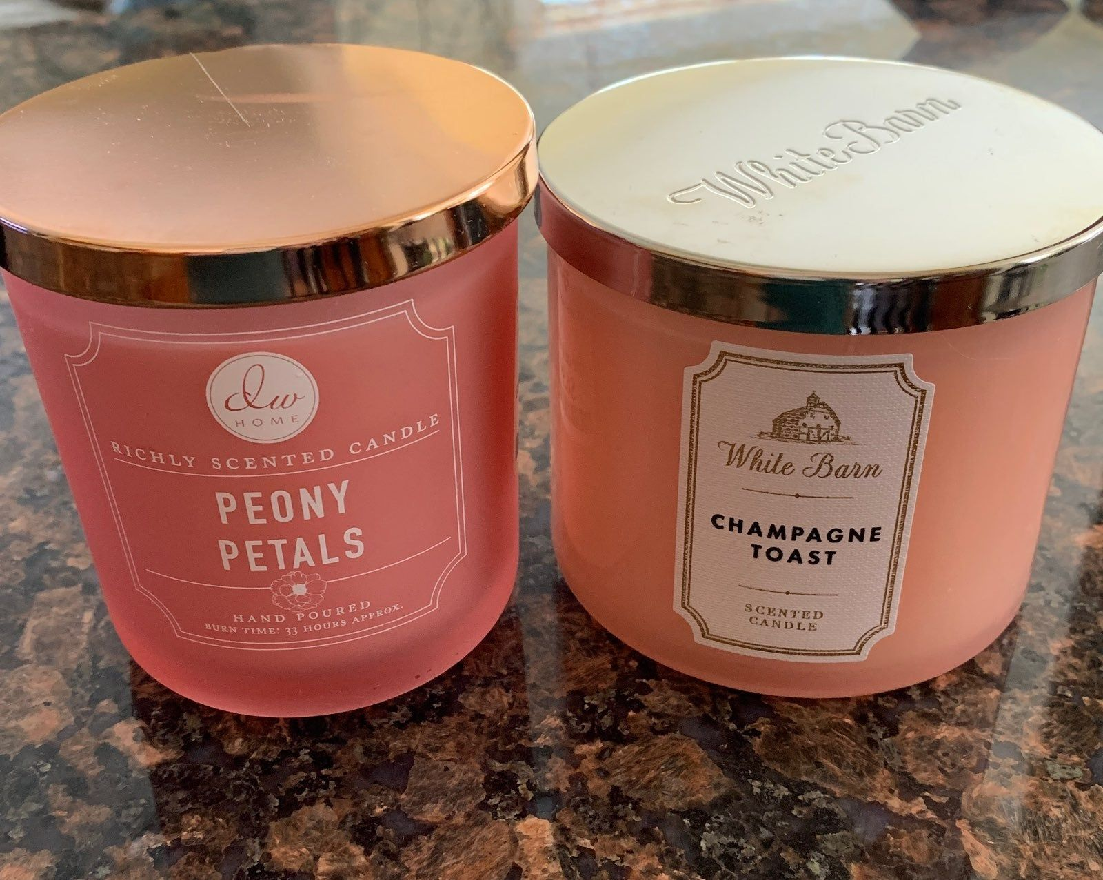 Brand New Never Burnt Candle Bundle Tj Maxx Peony Petals 9 21 Oz Candle Originally 6 99 White Barn Champag Bath Body Works Candles Champagne Toast Candles