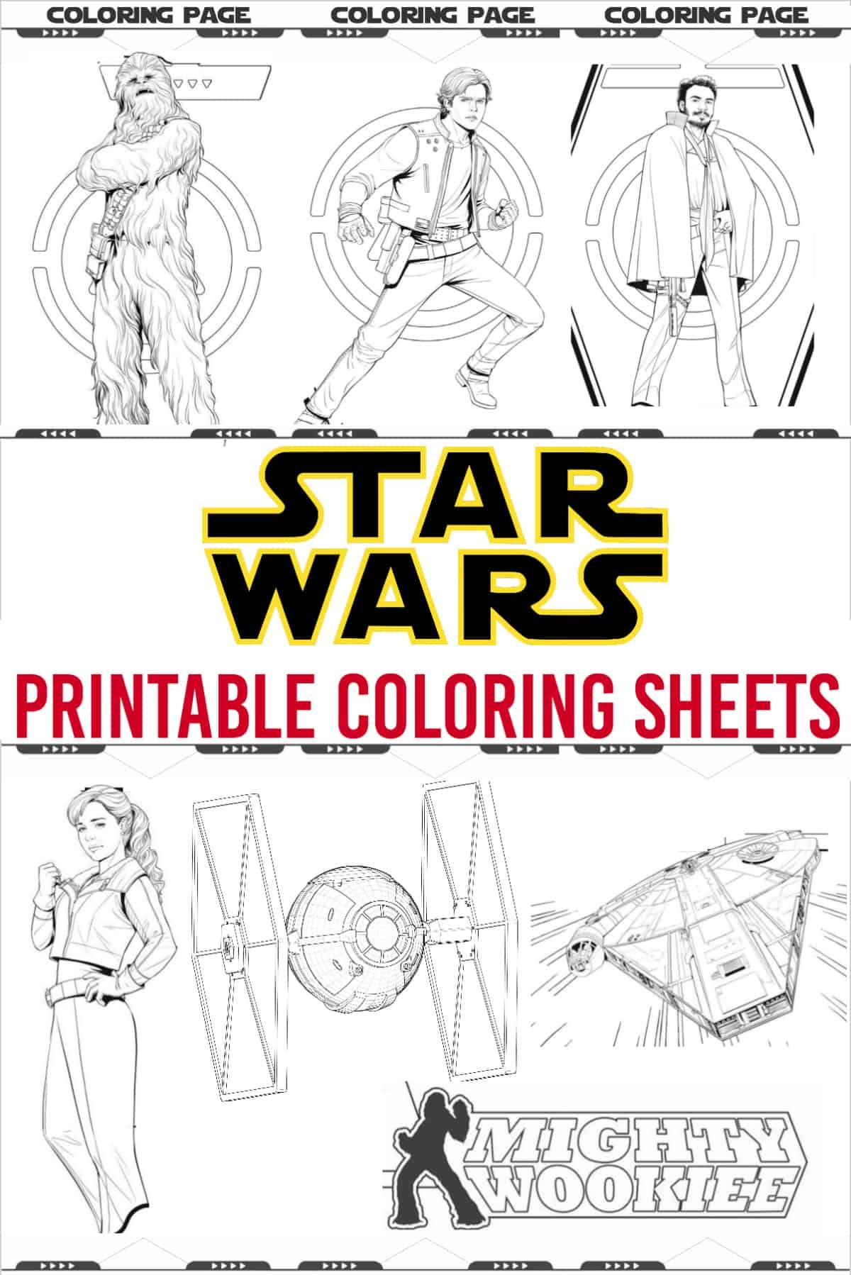 - Star Wars Coloring Pages - Free Star Wars Printables (With Images