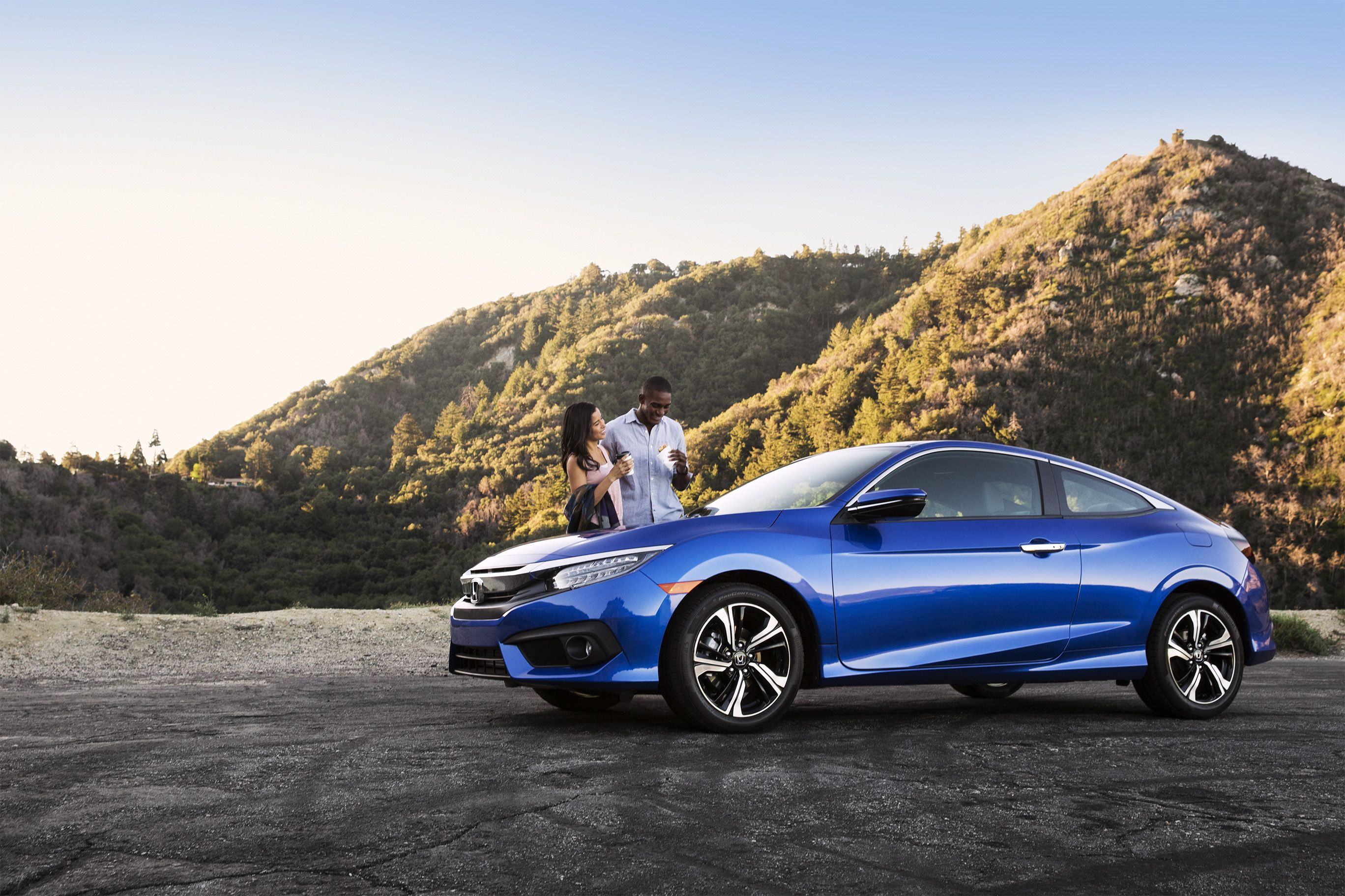 With a turbocharged 174hp engine, the 2016 Civic Coupe is