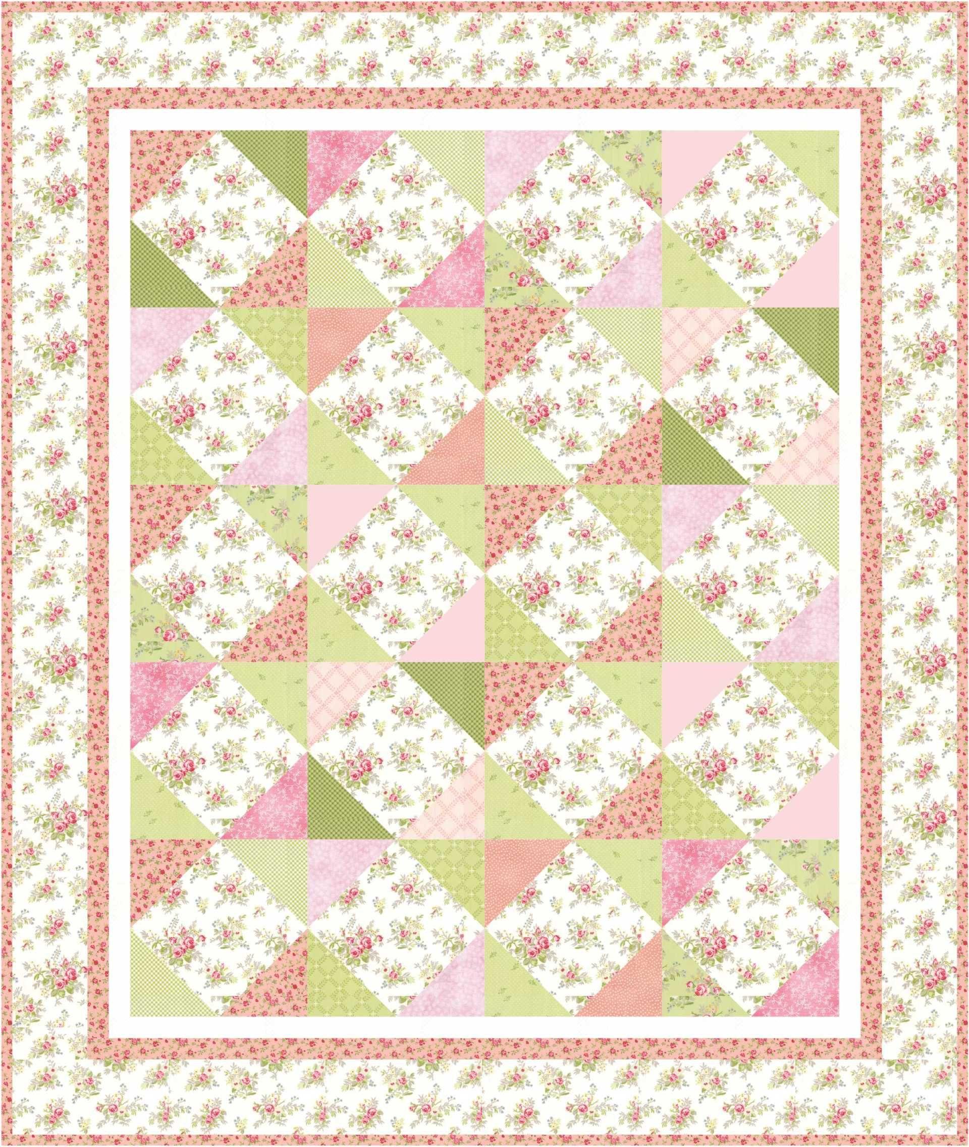 Grammy's Rose Garden Free Quilt Pattern- Jacquelynne Steves