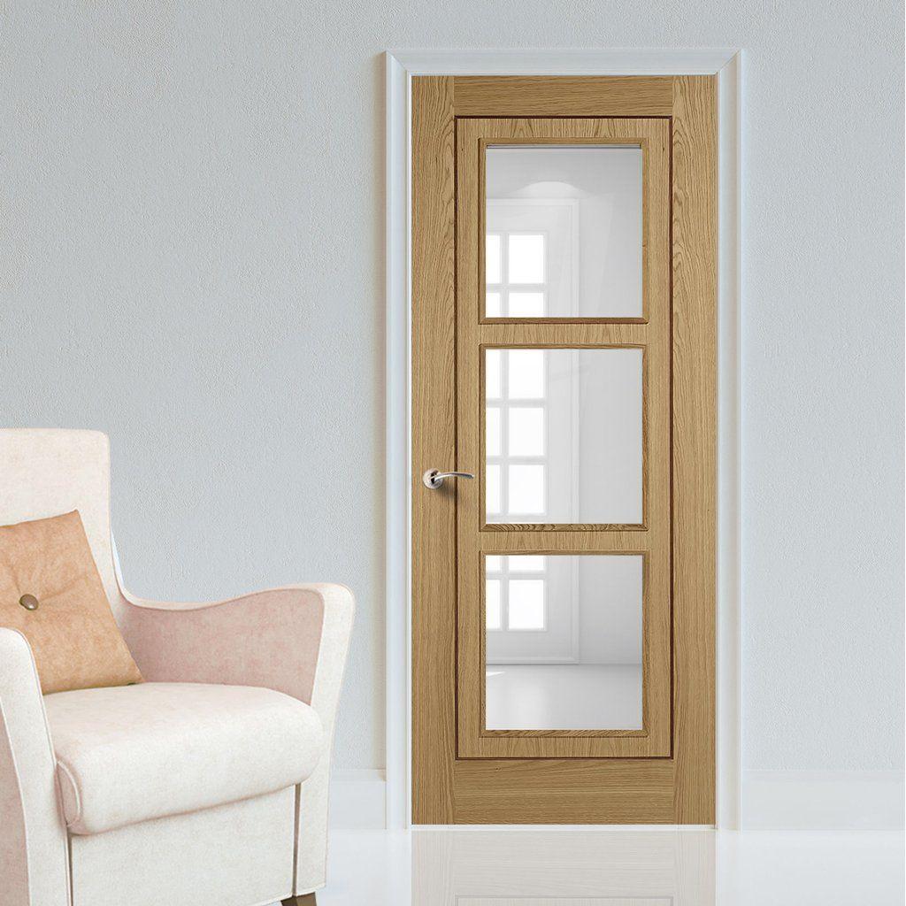 Contemporaryinterior Design Ideas: Bespoke Oak 3L Inlay Flush Door