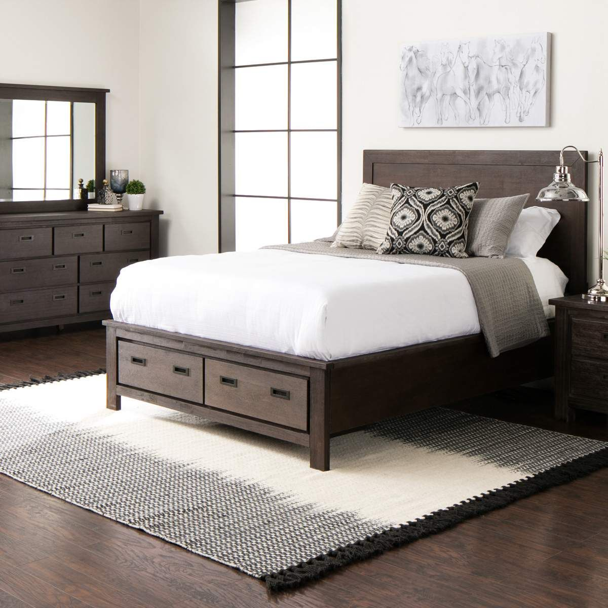 The Relaxed Style And Distressed Inset Metal Hardware Perfectly Complement The Parlee Panel Storage Bedroom Coll Bedroom Furniture Sets Furniture Bedroom Sets