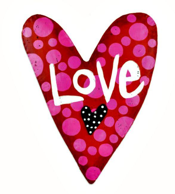 Love Heart Door Hanger From Silvestri Screenings By Artist