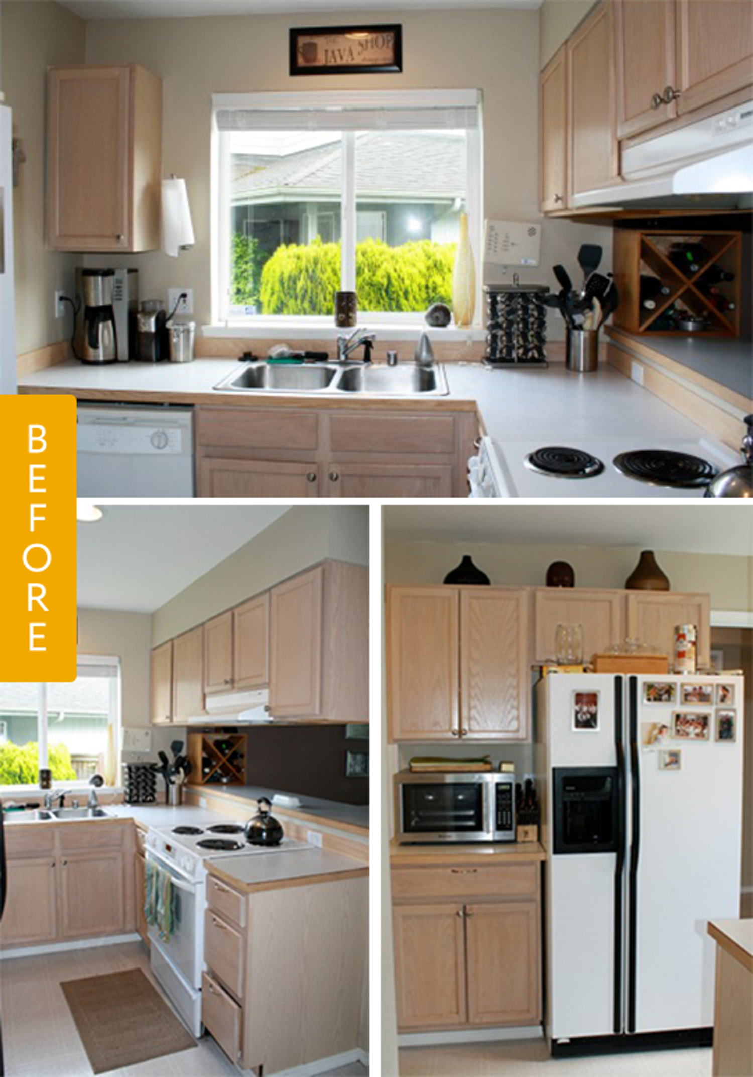 Before U0026 After: A Basic Kitchen Gets A Farmhouse Style Update U2014 Kitchen  Remodel