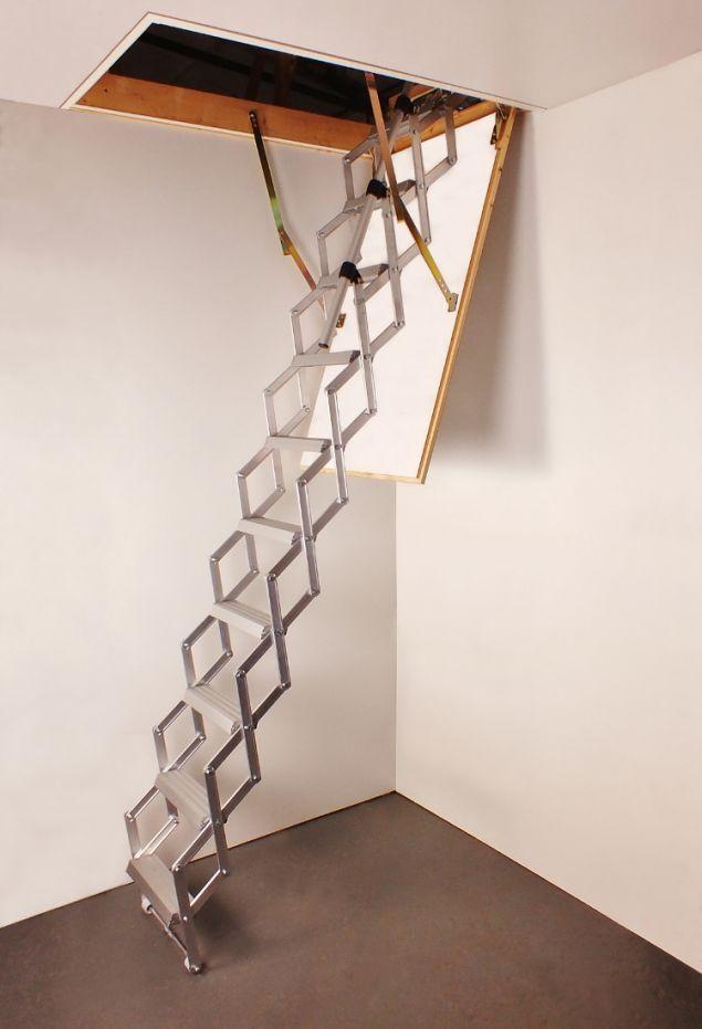 Best Columbus Piccolo Premium Aluminium Concertina Loft Ladder Loft Ladder Stair Ladder Ladder 400 x 300