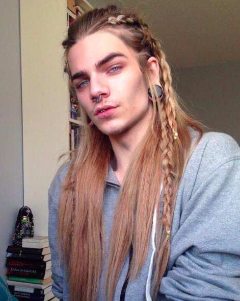 Peinados hombre trenzas