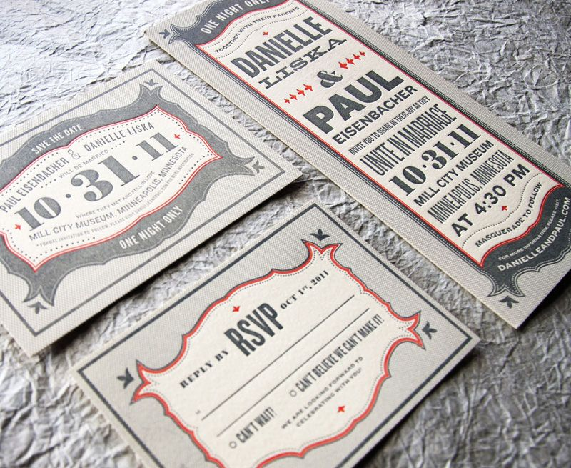 wedding announcement -- typography and design