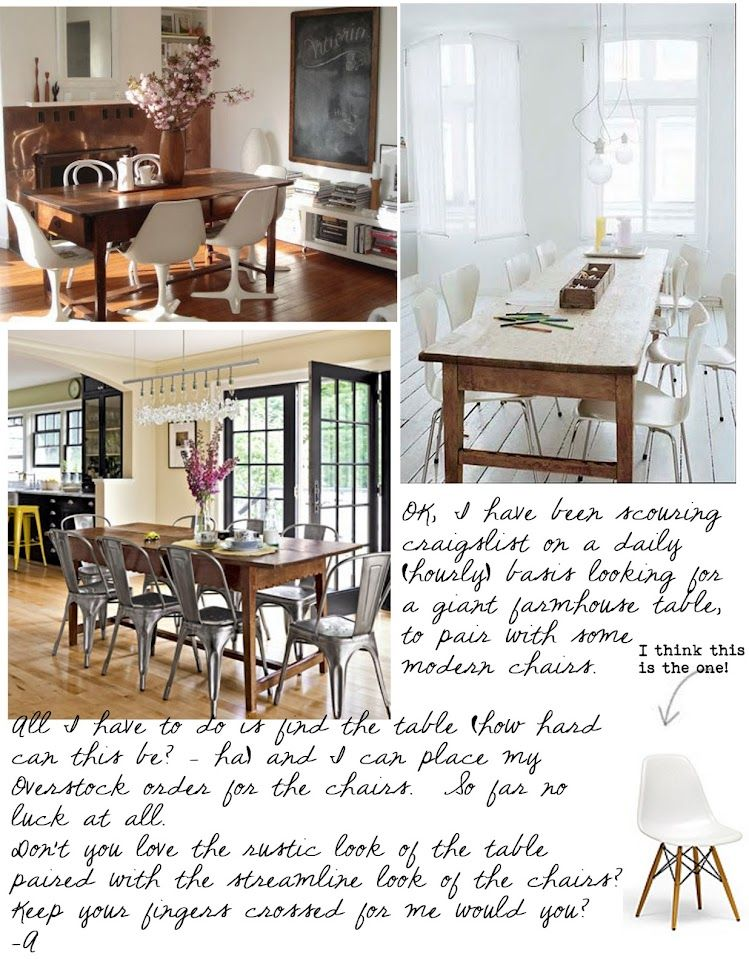 Eclectic Style Farmhouse Tables Modern Chairs