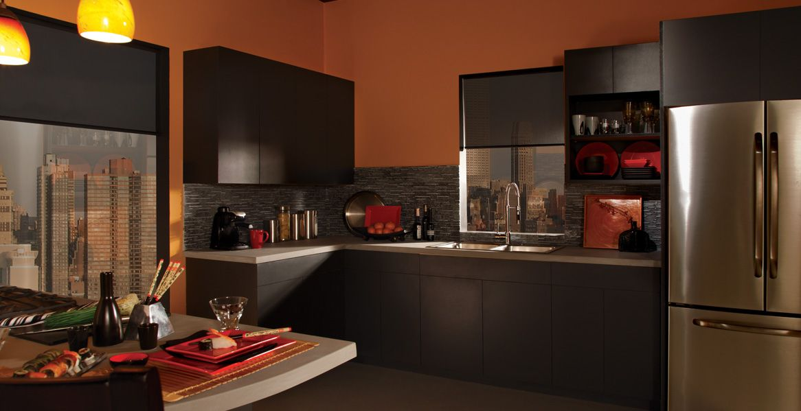 Sunset fiesta interior colors inspirations pumpkin toast 270d 6 cracked pepper ppu18 1 - Behr kitchen colors ...