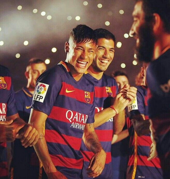 Neymar during team presentation before Gamper game