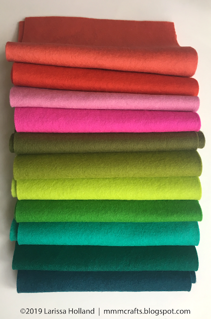 "YOU choose /""40/"" Sheets of our Beautiful Merino Wool blend Felt!"