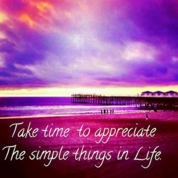 Take Time To Appreciate The Simple Things In Life Life Powerful Words Simple
