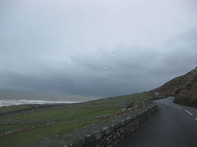 Along the road with the Irish Sea on left #irishsea Along the road with the Irish Sea on left (in Wales) #irishsea