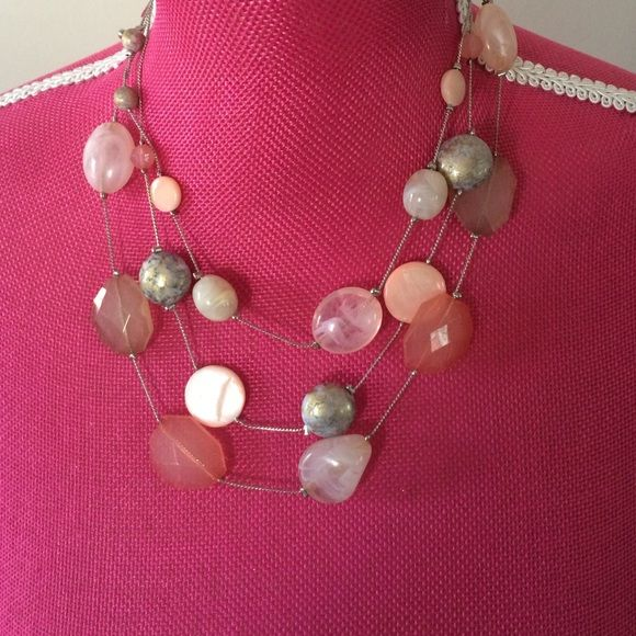 Beaded pink necklace Nice beaded necklace New York & Company Jewelry Necklaces