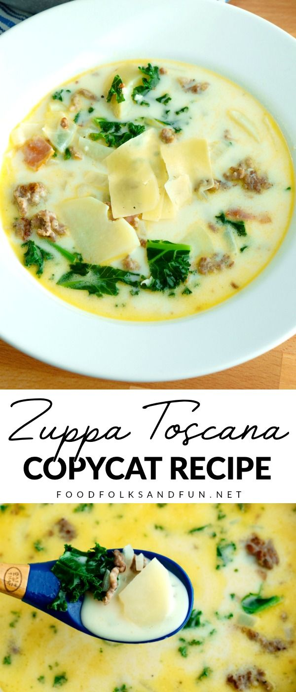 Zuppa Toscana - Copycat Olive Garden Recipe • Food Folks and Fun