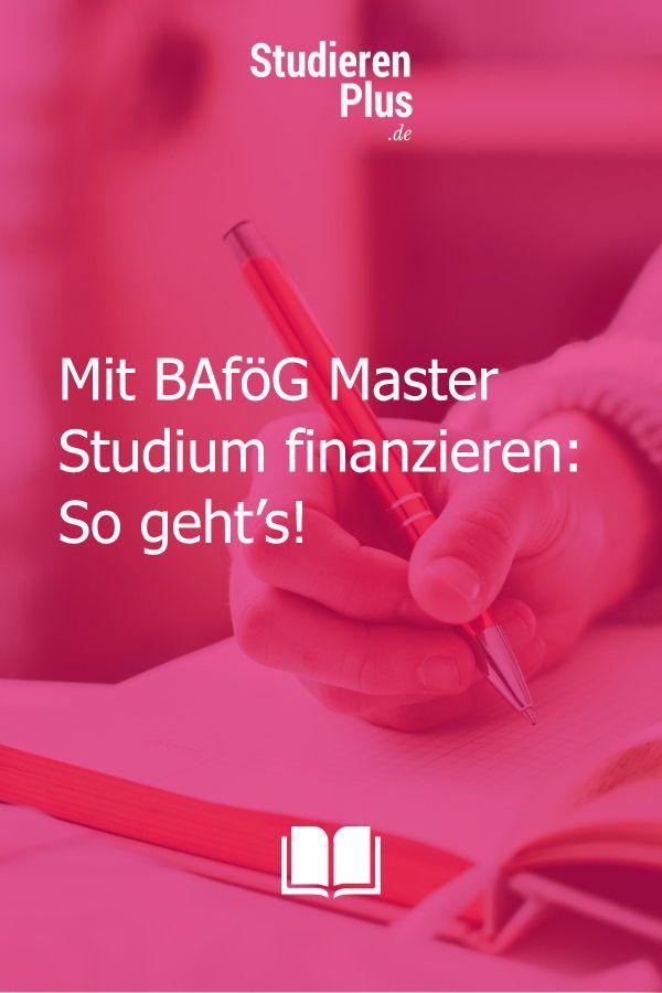 Bafög Bachelor Master