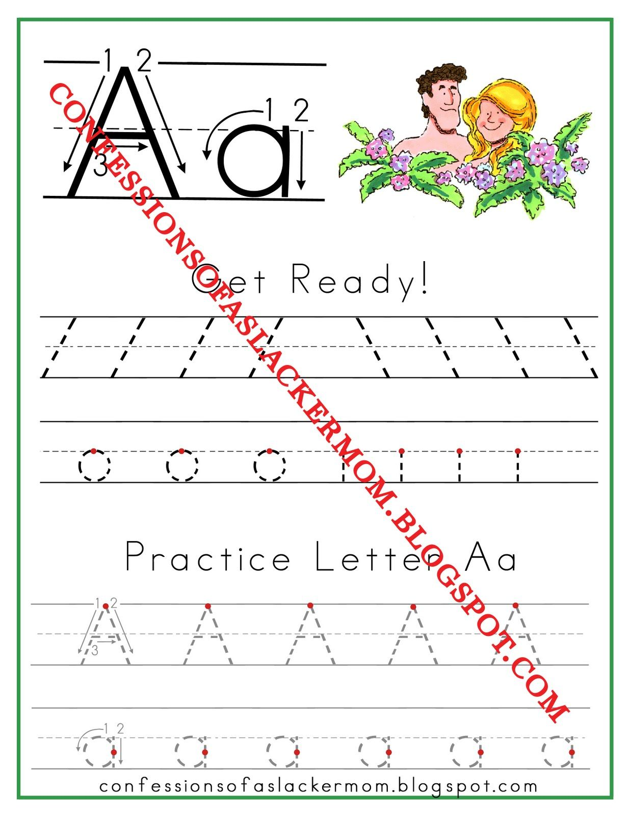 LDS home preschool curriculum with Print outs. Looks WONDERFUL!!! A is for Adam | Confessions of a Slacker Mom