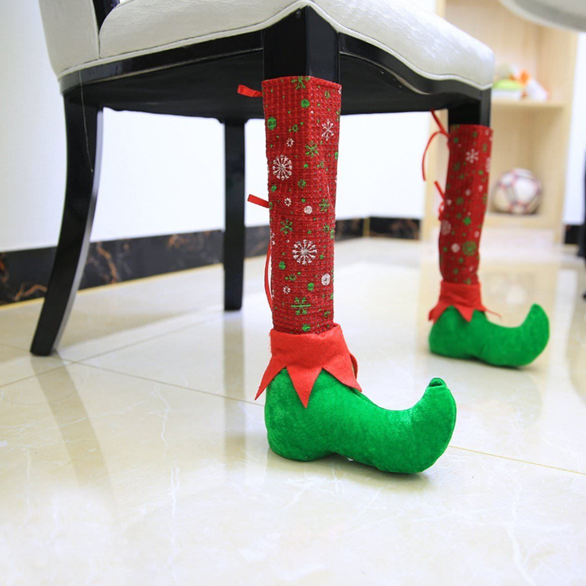 1pc Leather Christmas Chair Leg Table Santa Claus Leg Chair Foot Covers Party Christmas Table Navidad Christmas Decorations A Great Variety Of Goods Home & Garden
