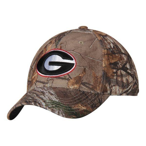 6ce4207bba0e5 Georgia Bulldogs TOW Camo Realtree Xtra Memory Foam Flexfit Hat Cap (M L)