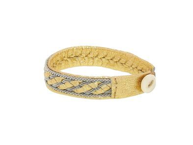 Medium Gold Lapland Bracelet with Pewter by Anita Gronstedt