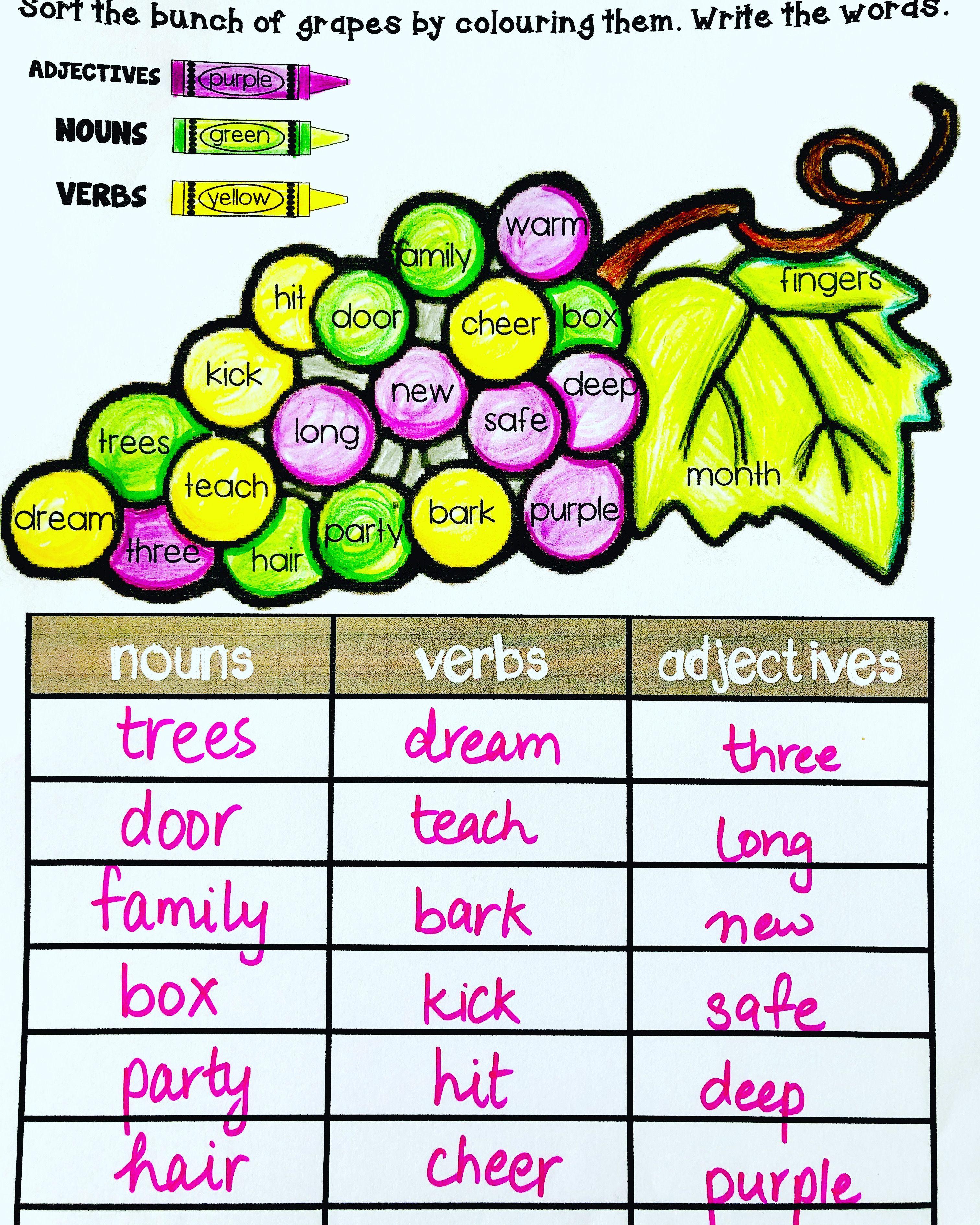 Predownload: Noun Verb Adjective Sort Www Englishsafari In Nouns Verbs Adjectives Nouns And Verbs Adjective Worksheet [ 3780 x 3024 Pixel ]