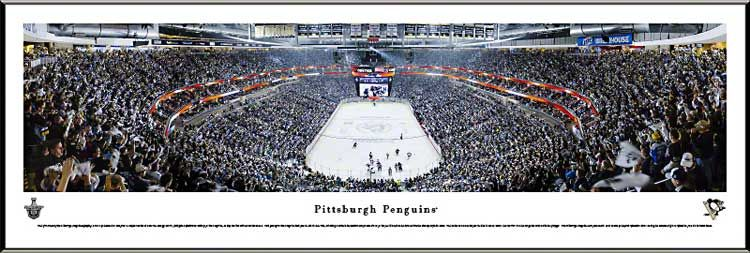 Pittsburgh Penguins Framed Panoramic Poster Print - Consol Energy Center - Playoffs 2013