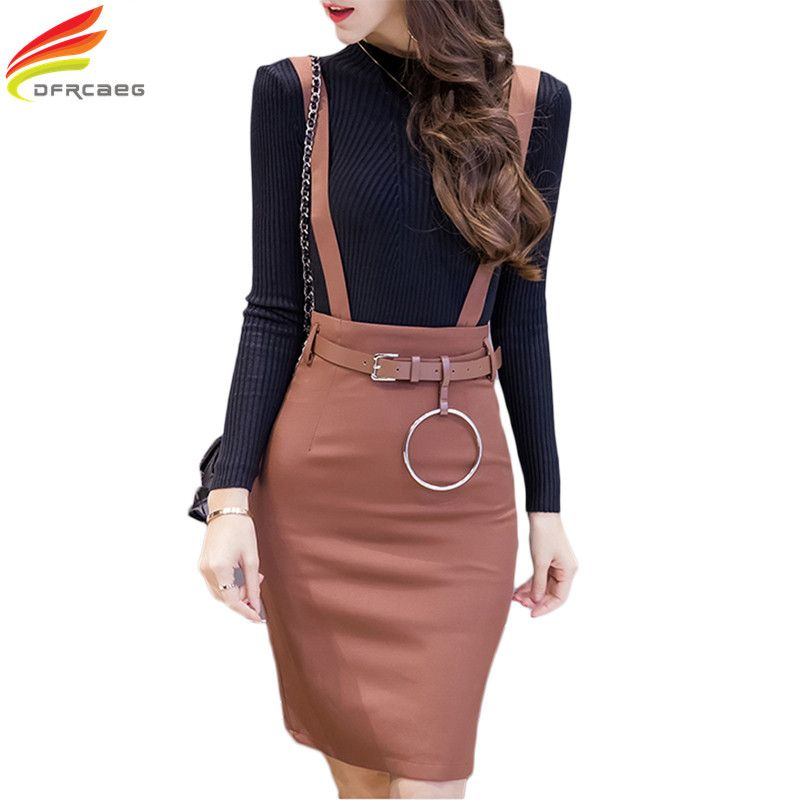 053bb56a4be2 Plus Size Formal Ladies Office Skirt With Strap Spring 2017 High Waist  Bodycon Pencil Skirts Womens Black Khaki Work Wear Summer //Price: $29 &  FREE ...