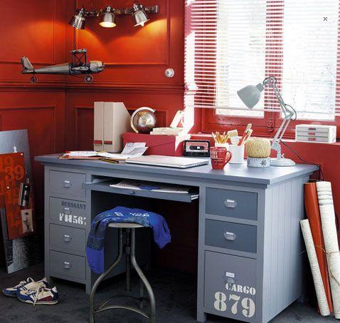 Bureau chambre enfant modèle Cargo Maison du Monde | Bureau ...