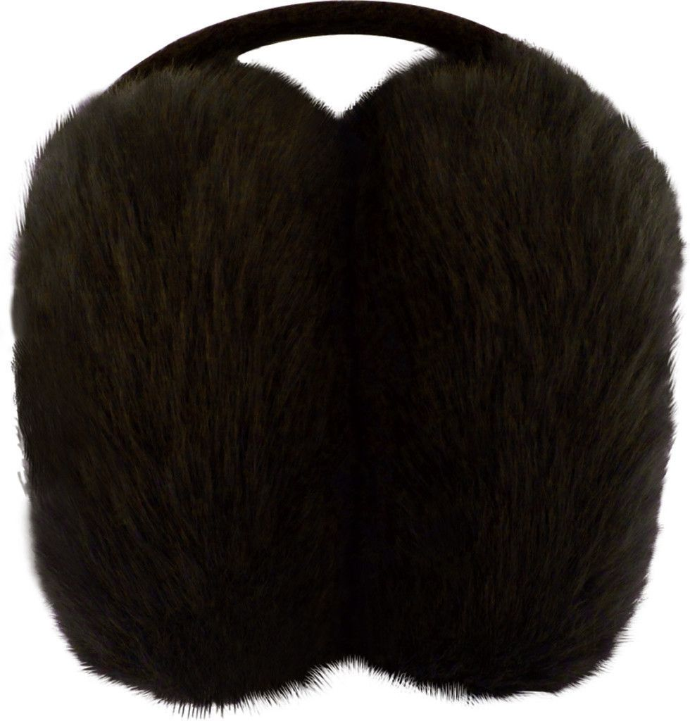 posh plush ear puffs - brown Case of 15