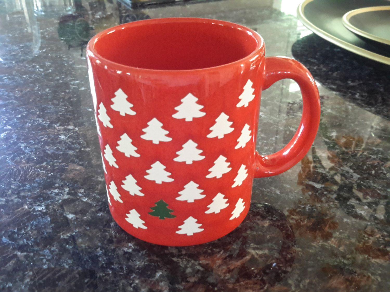Waechtersbach Christmas Mug with Small Christmas Trees & Waechtersbach Christmas Mug with Small Christmas Trees by ...