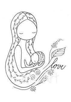 Breastfeeding Printable Digital Download Drawing Breastfeeding Etsy Breastfeeding Art Breastfeeding Poster Nursery Drawings