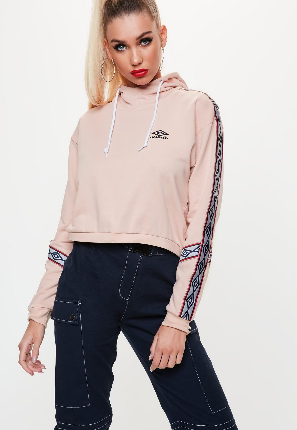 6ca526191 Missguided - Umbro x Missguided Pink Cropped Sweatshirt | Outerwear ...