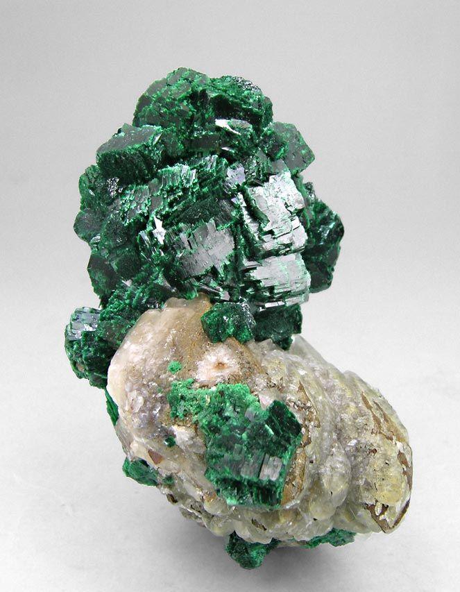 + Malachite with Calcite
