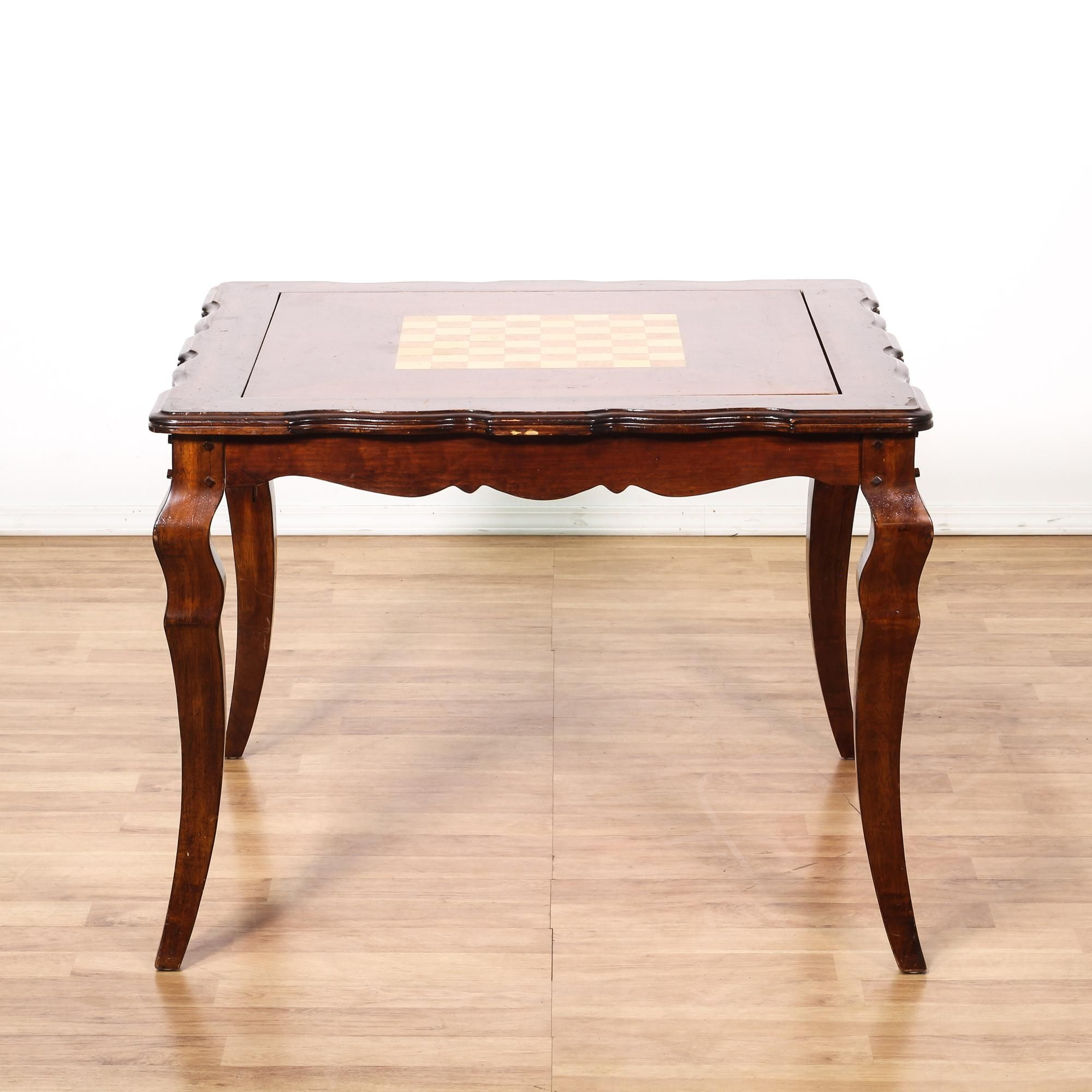 Beau This French Provincial Game Table Is Featured In A Solid Wood With A Glossy  Cherry Finish