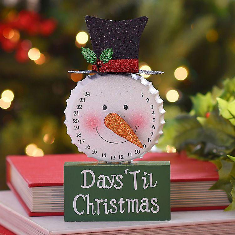 Christmas countdown Glittered Christmas Countdown Snowman Statue