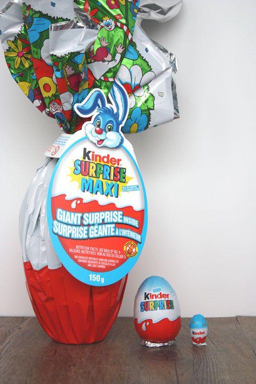 Not martha — giant kinder surprise eggs.