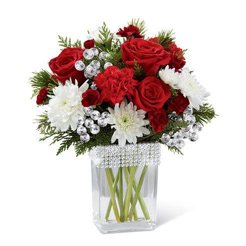 Glistening Jewel Bouquet At Send Flowers Christmas Flower Arrangements Christmas Flowers Flower Arrangements