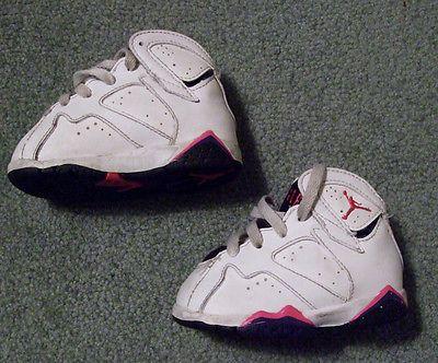 #Nike Air Jordan Sneakers #23 #Toddler Girl Size 3.5 White #Pink Purple