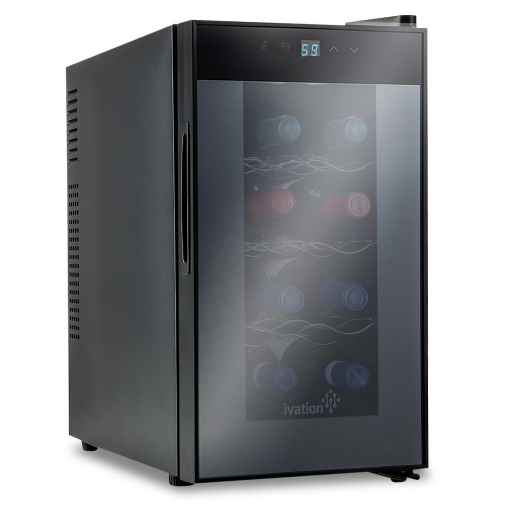 Ivation 8 Bottle Thermoelectric Countertop Freestanding Wine Cooler Fridge Cellar Refrigerator Vertical Black Ivfwct081bwh Thermoelectric Wine Cooler Wine Cooler Fridge Wine Refrigerator