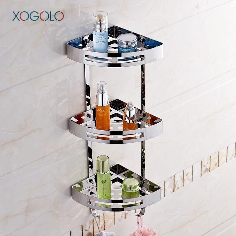 Xogolo Triple Tier Stainless Steel 304 Multifunctional Sturdy Corner