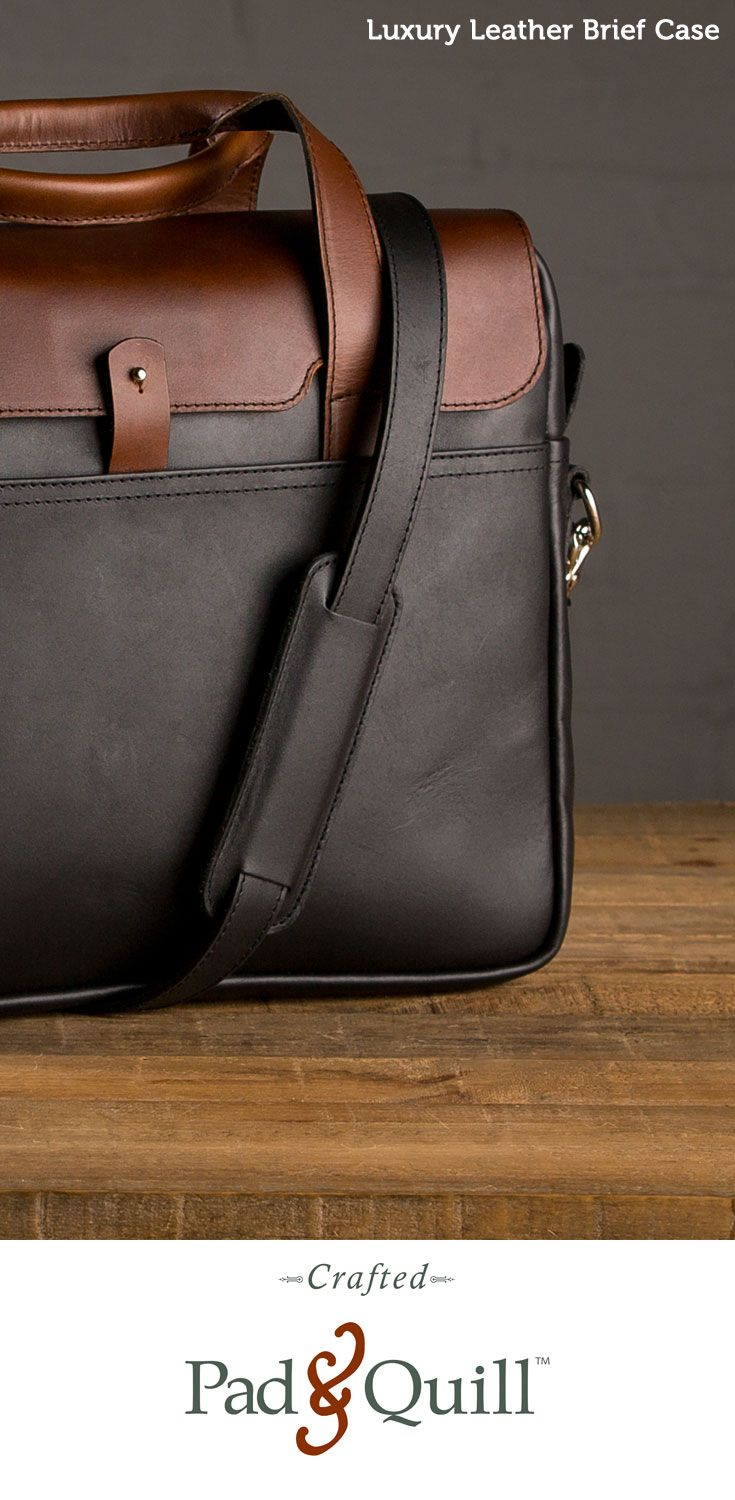 www.PadandQuill.com The Luxury Leather Briefcase. Break it in. We dare you.