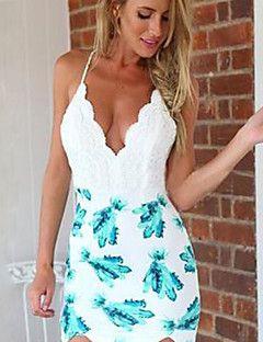 Women's+Sexy+Casual+Print+Cute+Plus+Sizes+Micro+Elastic+Slee...+–+USD+$+12.99