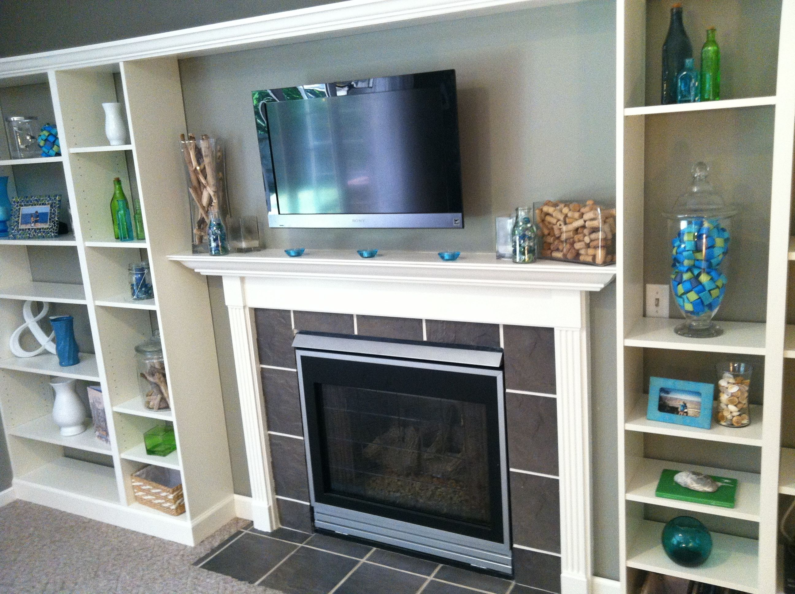 Built In With Fireplace