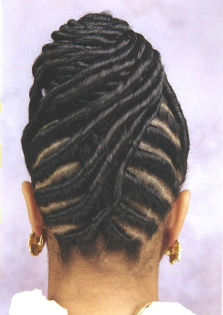 bun hairstyles with African twists american