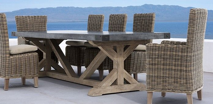 Dining restoration hardware would love to build this for Restoration hardware outdoor dining