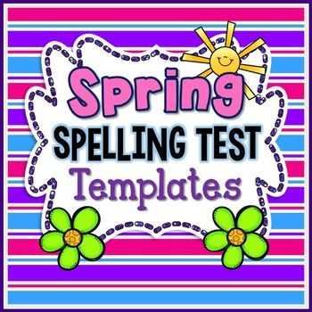 FREE-Spring Spelling--for 1st, 2nd, 3rd, 4th, 5th-Spice up your - free test templates