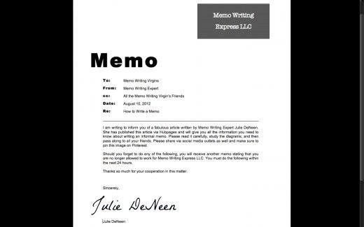 How To Write An Informal Memo  Books