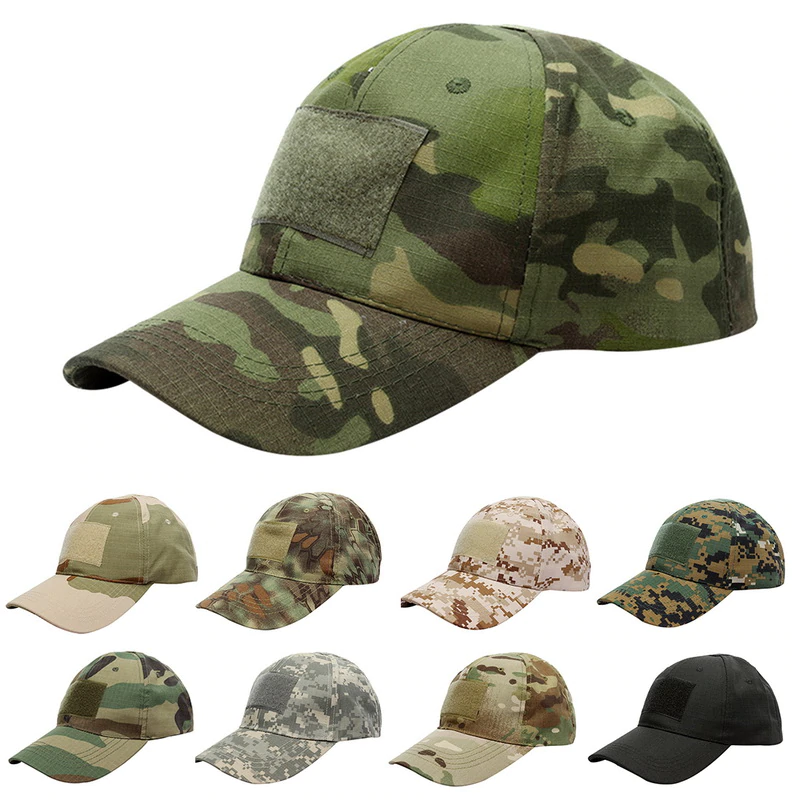 Photo of US $3.03 18% OFF|Puimentiua 17 Pattern For Choice Snapback Camouflage Tactical Hat Patch Army Tactical Baseball Cap Unisex    Camo Hat|Men's Baseball Caps|   – AliExpress
